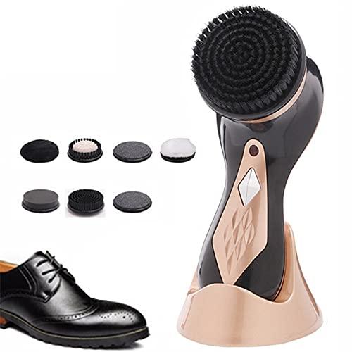 XZDM Elektrischer Schuhpolierer, Schuhpolierer-Kit, tragbare Handmaschine für Lederschuhe, Poliermittel und Pflege, für Schuhe, Taschen, Sofa