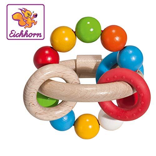 Eichhorn Hochet 3D Jouet à saisir, Multicolore