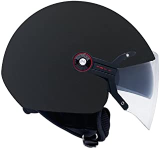 Nexx X60 Vision Flex Soft Open Face Motorcycle Helmet (Black, X-Large)