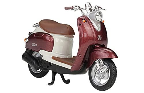 Motocicleta Vino YJ50R 1:18 Modelo de Motocicleta Juguetes, Modelo de decoración de Pastel de aleación, Mini colección de niños Regalos,Marrón