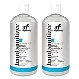 Artnaturals Hand Sanitizer Gel Alcohol Based (2 Pack x 8 Fl Oz / 220ml) Infused with Jojoba Oil, Alovera Gel & Vitamin E - Unscented Fragrance Free Sanitize