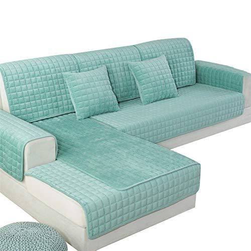 kengbi Funda de sofá duradera y fácil de limpiar, 1 funda de sofá para sala de estar, color gris, café, beige, felpa, suave, para sofá, moderno, minimalista