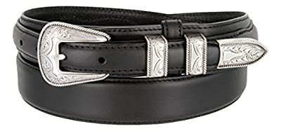 Oil Tanned Western Ranger Leather Belt- With Silver Finish Rope Design Buckle Set