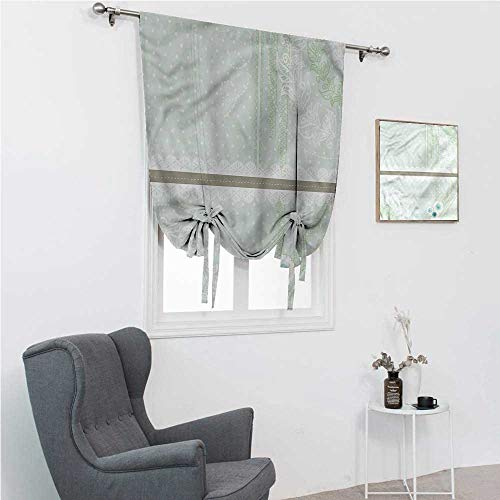 """Drapes for Bedroom Mint Window Shades for Home Victorian Lace Pattern 48"""" Wide by 64"""" Long"""