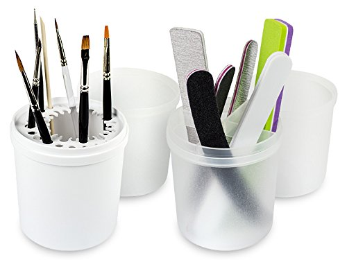Pinsel Und Feilen Köcher Set Ohne Inhalt - Nageldesign Aufbewahrung Box