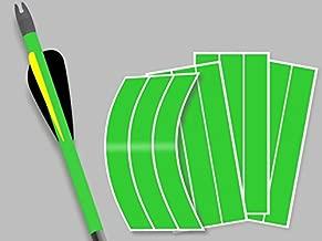 Decalnetwork Arrow Wraps Fluorescent Green 1