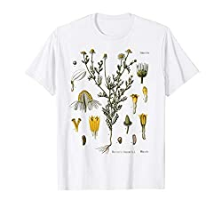 Chamomile flowers have a relaxing effect on the digestive tract German Chamomile Matricaria chamomilla Chamomile Flower Botanical plant flower print Lightweight, Classic fit, Double-needle sleeve and bottom hem