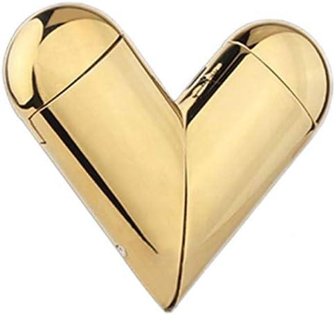 USB aanstekers Smokeless Heart Shaped lichter winddicht en Splashproof for Gift openlucht het kamperen 77x63cm ColorGolden ice