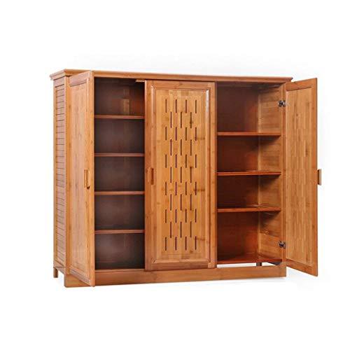 HLL Zapatero de bambú simple de madera maciza de múltiples capas zapatero simple moderno almacenamiento sala de estar porche multifunción salón gabinete zapatero