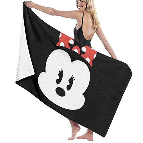Custom made Toalla de baño de microfibra de Minnie Mouse, 70 x 140 cm, toalla de playa grande para deportes, accesorios de camping