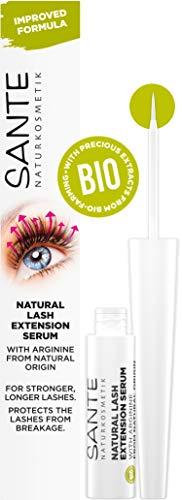Natürliches Bio Wimpernserum von SANTE Naturkosmetik, Natural Lash Extension Serum, Wimpernbooster für Verlängerung & mehr Wachstum, ohne Hormone, Vegan, 3,5ml