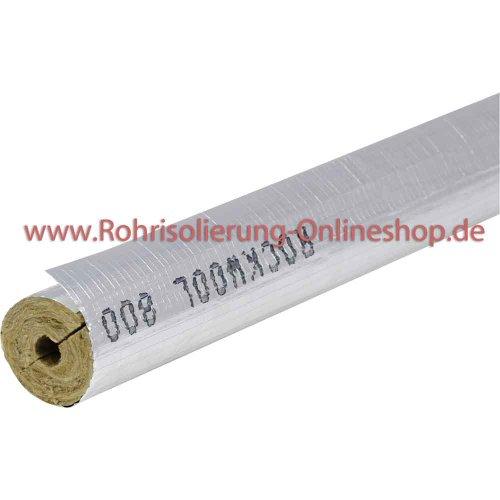 Steinwolle Rohrisolierung Rockwool 800 alukaschiert 22 x 30 mm voller Karton