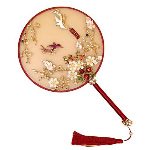 UPANV Abanicos Redondos Japoneses/Chinos De Doble Cara con S
