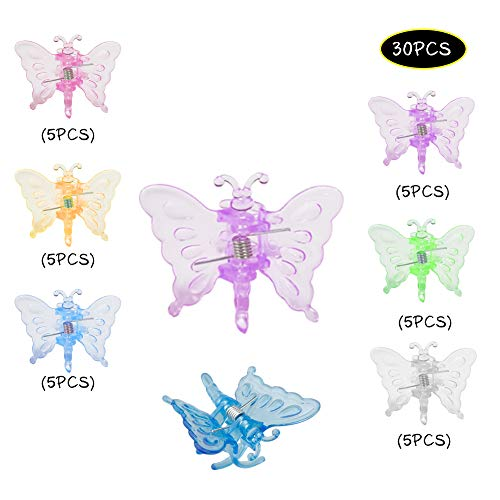 30 x Schmetterlings-Orchideen-Clips, Pflanzenstütz-Clips, Pflanzen-Blumen-Schlaufen-Clips, sanfte Pflanzenklemme, Pflanzenstütze, Rankhilfe, Spalier-Clip