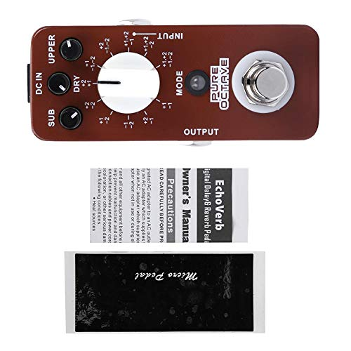 NEUFDAY Neufdayyy Oktave-Effekt-Generator-Pedal, DC 9V/128mA Vollmetallgehäuse Mini-Oktave-Gitarren-Effektpedal 11 Oktave-Modi True Bypass