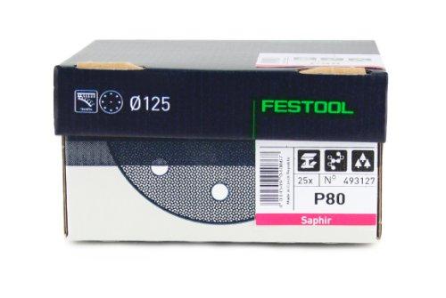 FESTOOL 493127 Schleifscheiben STF D125/90 P80 SA/25