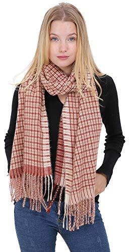 Longwu Ladies Idea de regalo Cashmere Pashmina Tartan bufanda Moda cálido abrigo de lana mantón invierno Stole para mujeres