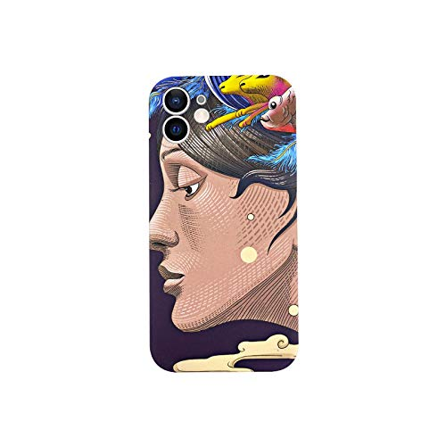 Para iPhone 12 11 Pro Max X XS XR 12 Mini caso cubierta para iPhone X XR 7 8 Plus Art Negro Carcasas Anti-golpe Coque Funda-CH-04-Para iPhone X