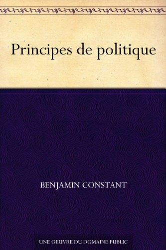 Couverture du livre Principes de politique