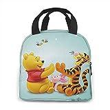 Bolsa de almuerzo portátil Win_nie-The-Pooh con Tigger Play Game Bolsa de almuerzo Bolsa de asas Organizador de almuerzo Soporte de almuerzo aislado para mujeres/hombres