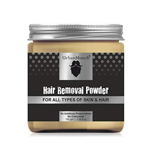 UrbanMooch Natural & Organic Hair Removal Powder for All Skin & Hair Types, 100gm