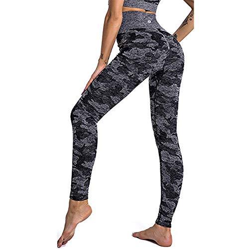 Leoyee Seamless Gym Leggings Power Stretch hoch taillierte Yoga Hosen Sporthosen