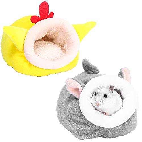 Cama para roedores,Cama para Conejillo de Indias,Saco de Dormir para hámster Lindo Saco,Casa de Invierno para Mascotas de Animales Pequeños,Saco de Dormir Portátil Antideslizante