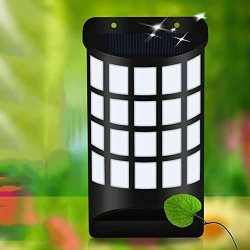 LONGWDS Lámpara de pared 66 LEDs SMD 3528 Control de luz respetuosa del medio ambiente de la energía solar de la antorcha LED de la lámpara de pared con 5.5V / Panel 0,49W Solar Nagi-in linterna ilumi