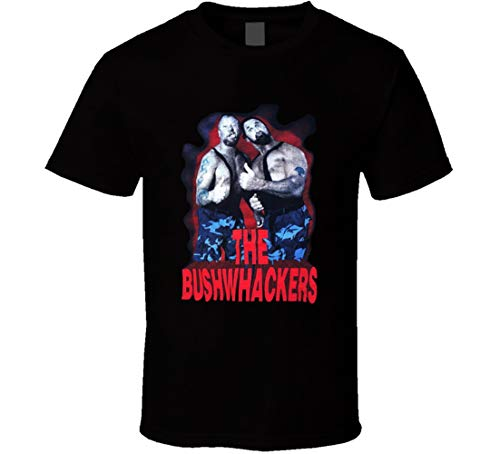 FUBAO The Bushwackers Retro Wrestling T-Shirt schwarz Gr. 56, Schwarz