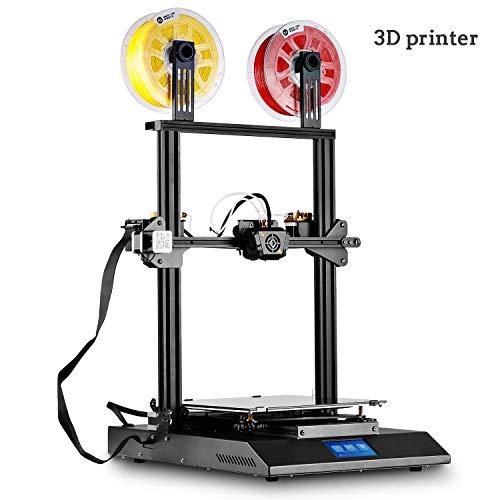 QinLL Imprimante 3D, imprimante 3D intégrée Semi-assemblée Semi-assemblée Couleur, Grand Format d'impression 300 x 300 x 400 mm (11,8 x 11,8 x 15,8 po), écran Tactile coloré de 4,3 Pouces,BB