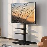 FITUEYES テレビスタンド 壁寄せテレビスタンド 高さ調節可能 ラック回転可能 ブラック TT307001MB 3段式
