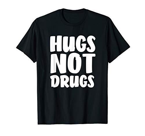 Hugs Not Drugs Design - Anti Drug Hippy Tree Hugger T-Shirt
