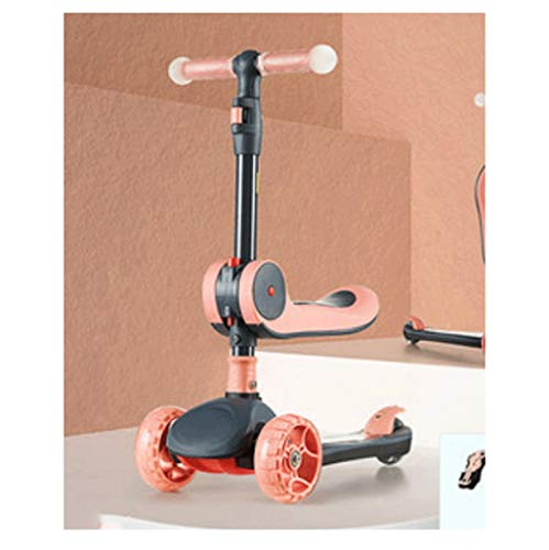 Scooter para niños Scooter de patada multifunción para niños - altura ajustable con cubierta extra ancha PU Wheels Flashing Wheels Great Kids Scooter y scooters de niño Scooter para niños pequeños