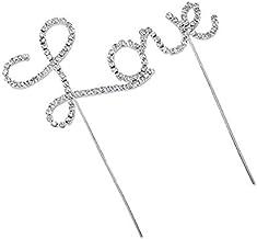 FYDT Letter Love-Pattern Pattern Cake Wedding Engagement Topper Decoration Ornaments_Silver