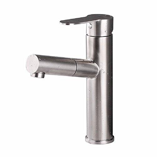 HQLCX Robinets de lavabo l'eau du Robinet d'eau du Robinet Acier Inoxydable 304 Robinet