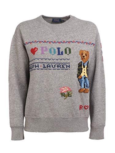 Ralph Lauren Luxury Fashion Damen 211764907001 Grau Polyester Sweatshirt   Herbst Winter 19