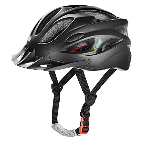 AGH Adult Bike Helmet, Mountain Bike Bicycle Helmets for Women Men, Adjustable & Lightweight Adult Road Cycling Helmet with Detachable Visor