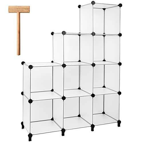 Gold Armour - Estantería de almacenamiento de 9 cubos para libros, organizador de armarios, estantes de almacenamiento, organizador de...
