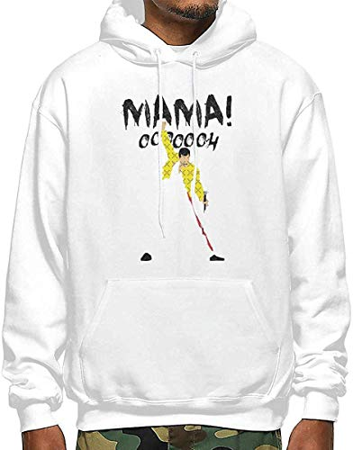 SDFGSE Mama Oh Men's Polyester Hoodie Pocket Sweater Jackets XL