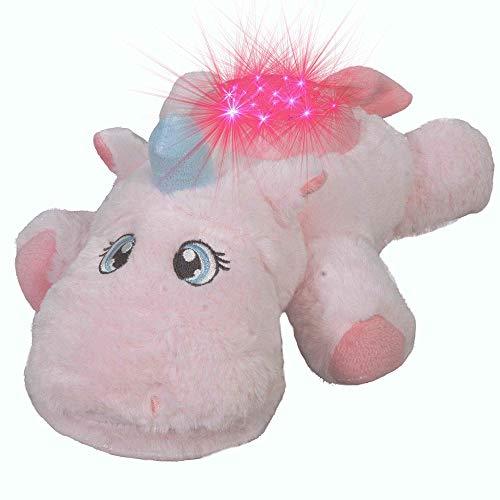 Lámpara LED con diseño de unicornio y cielo estrellado, música de peluche,...
