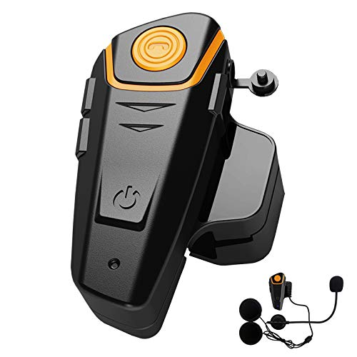 Yideng BT-S2 Motorcycle Bluetooth Helmet Headset Wireless Intercom Interphone,1000m Helmet Bluetooth Headset Communication Systems Supports FM Radio GPS Music Hands-Free and up to 3 Riders(Single)