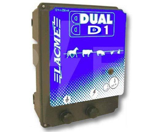 Lacme Dual D1 Électrificateur à Courant, Noir/Bleu