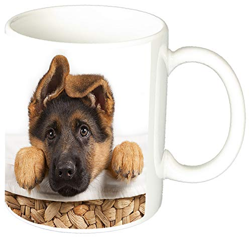MasTazas Pastor Aleman Cachorro German Shepherd Puppy F Tasse Mug