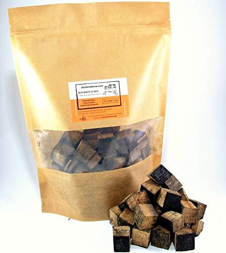 AlcoFermBrew BOURBON ROBLE CUBOS 1kg de barriles vacíos - Whisky Saborizante y Envejecimiento, Vino, Cerveza, Moonshine - Homebrewing Vinemaking Smoking BBQ