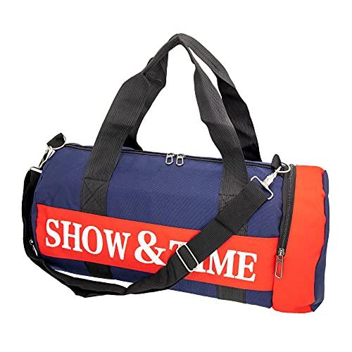 s7 star Duffle Bag,Gym Bag,Bolsa de Gimnasio para Zapatos y Ropa,Tiene Correa de Correa Ajustable y Asas,Los Dos Bolsillos Laterales con Cierre a Cremallera. (Azul)