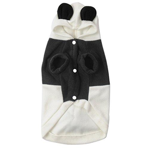 Greencolourful Vêtements Cute Pet Puppy Dog Cat Toison Panda Warm Coat Costume Outwear Apparel (L)