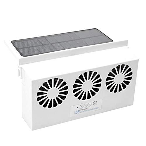Ventilador de refrigeración para coche Ventilación USB Escape Solar y alimentado por batería, Ventana automática Aire acondicionado Ventilación de aire Escape Ventilador de refrigeración Radiador