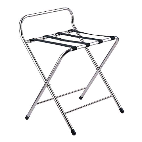 YISUNF Luggage Rack, Luggage rack Luggage Rack ,Hotel Room Foldable Stainless Steel Suitcase Holder, Luggage Rack Shelving Suitcase Backpack For Bedroom