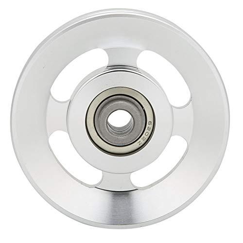 Yosoo Riemenscheibe aus Aluminiumlegierung, Krafttrainingsscheibe, Riemenscheibe für den Austausch von Fitnessgeräten(90mm im Durchmesser)