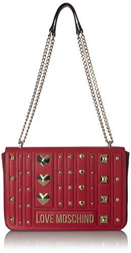 Love Moschino Borsa PU, Bolsa de mensajero para Mujer, Rojo (Rosso), 19x28x6 centimeters (W x H x L)